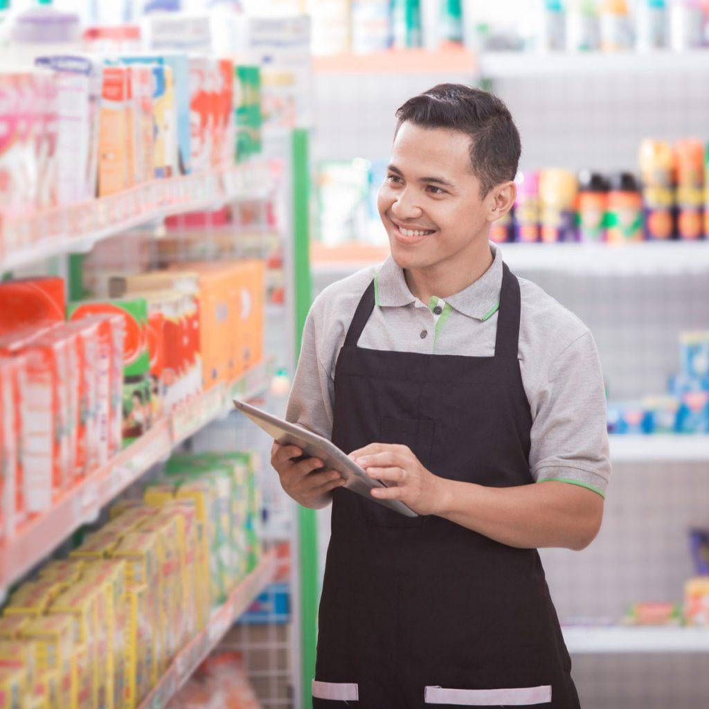 food en retail winkel