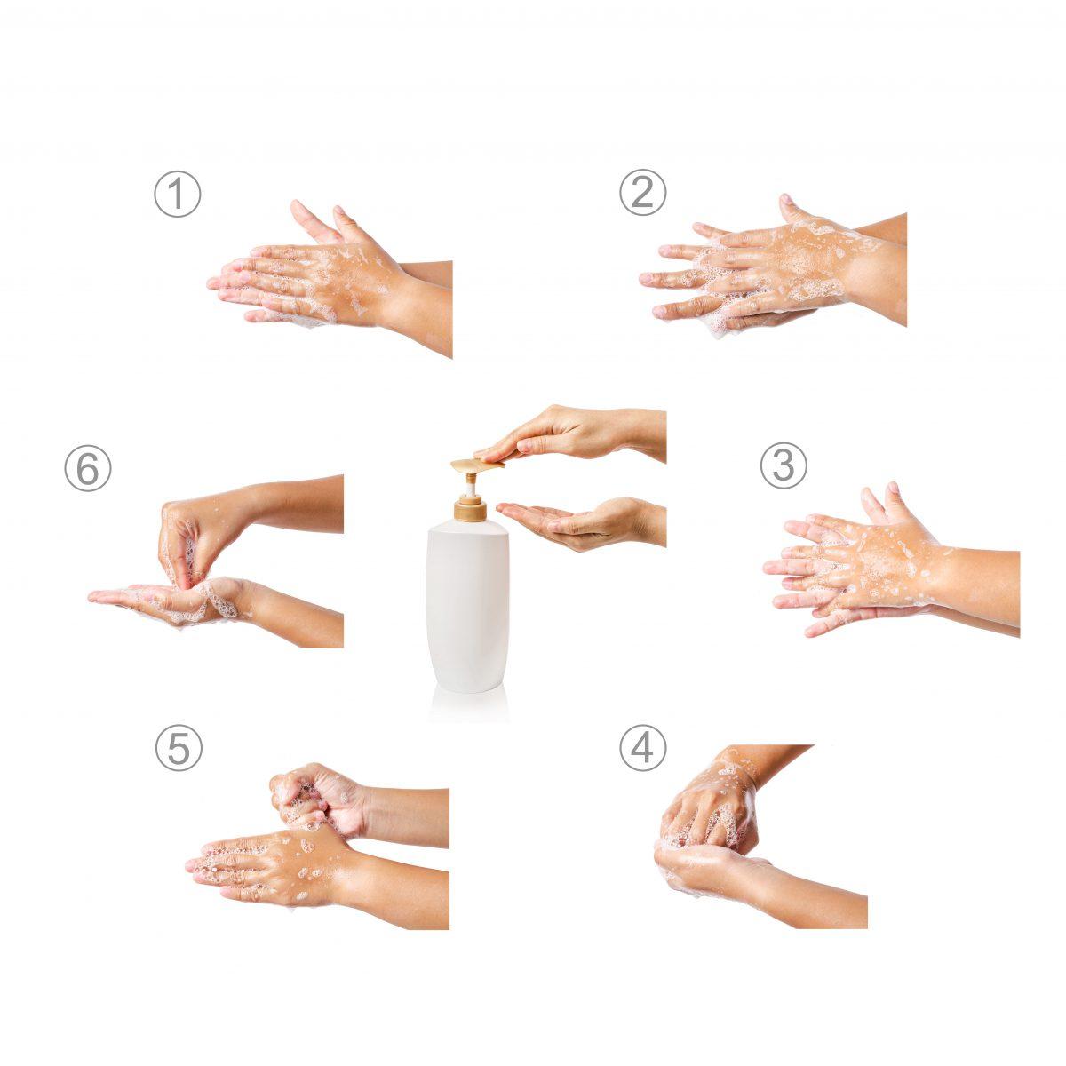 instructie handen wassen