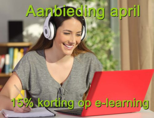 Actie e-learning 15% korting